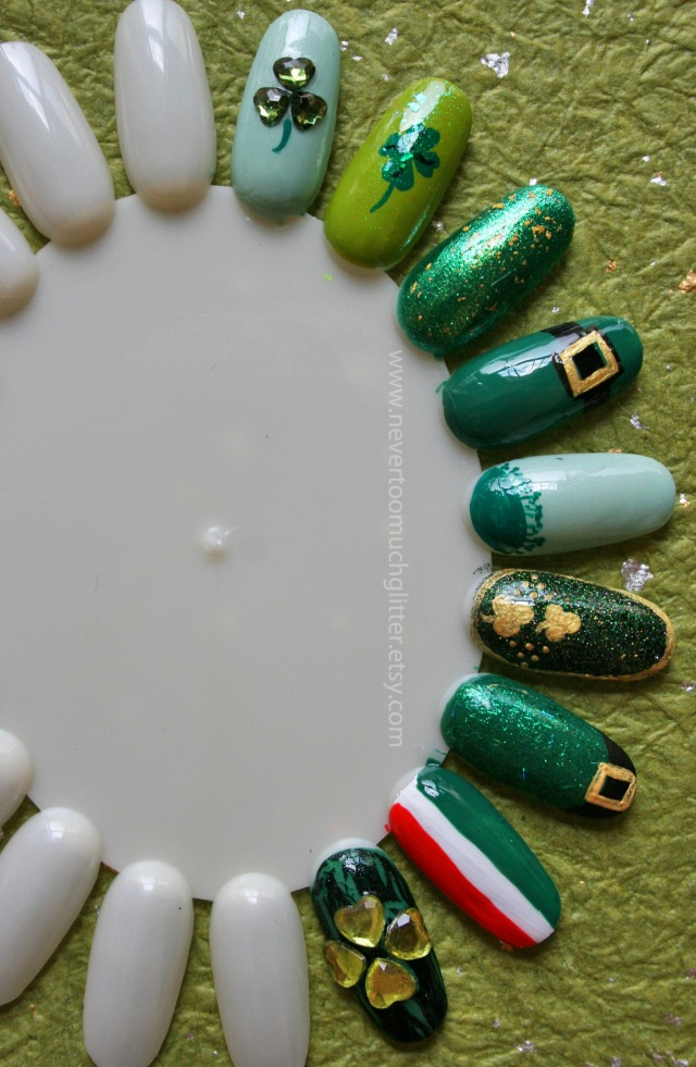 St Patrick's Day Nail Art 1